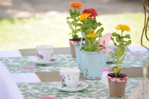 Teacup place setting